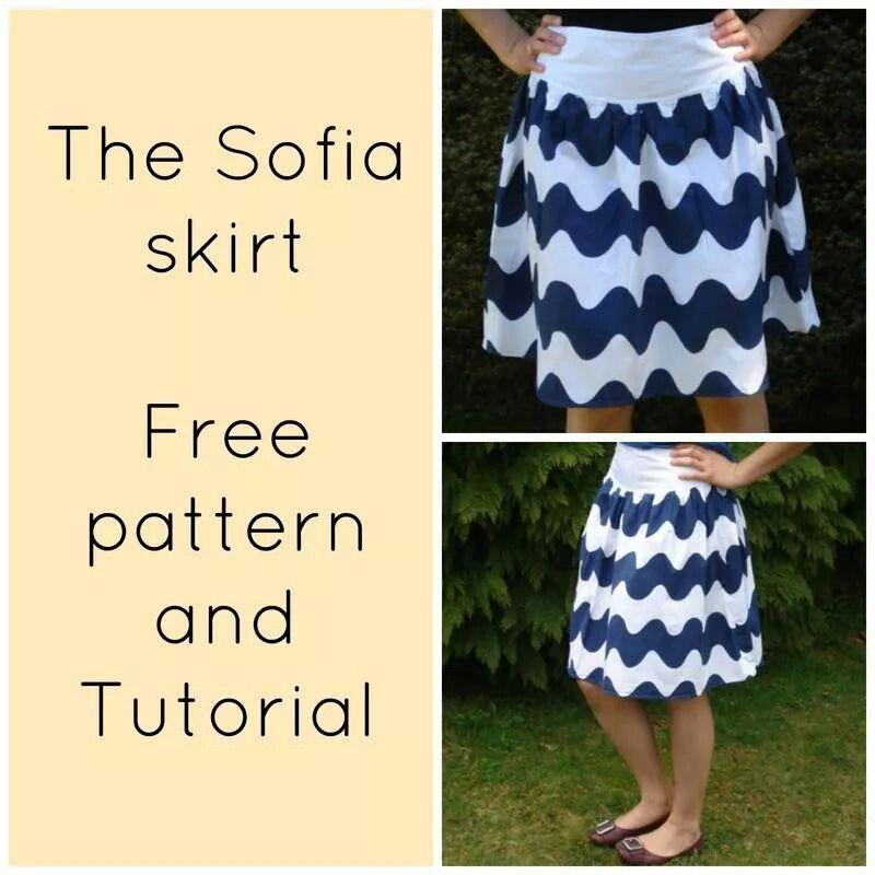 The Sofia skirt - Free pattern and tutorial - Tip Junkie | Sewing ...