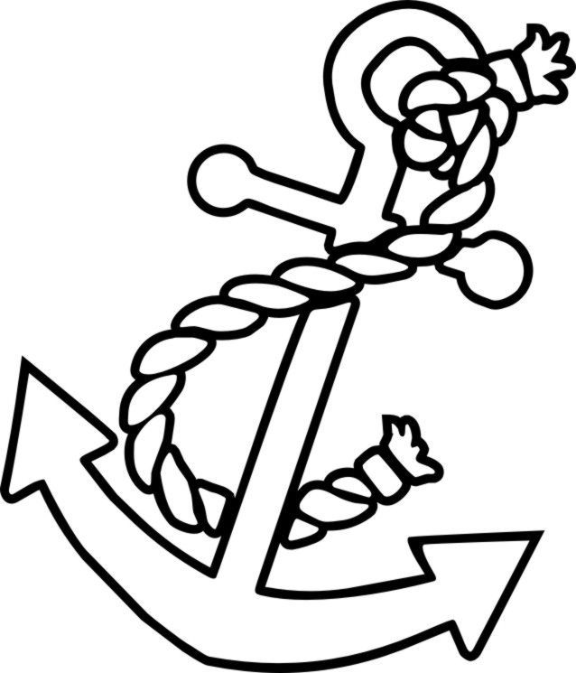 Free color pages anchors anchor coloring picture kids for Nautical coloring pages