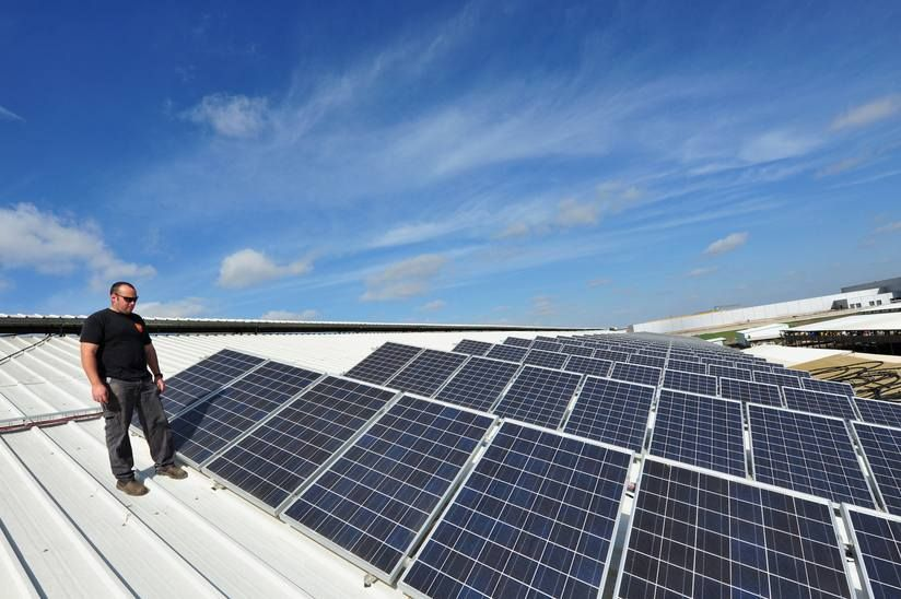 solar panels are installed on the roof of a building in avigdor rh pinterest com
