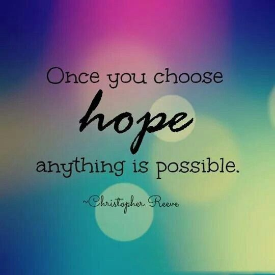 """""""Hope"""" Christopher Reeve"""