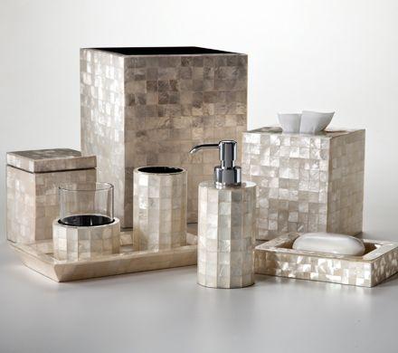 Capiz bath accessories by labrazel featuring natural - Capiz shell bathroom accessories ...