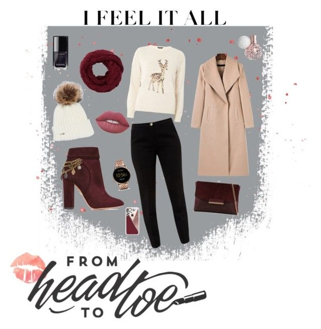 """""""A/W Outfit #2"""" by wallaceangel ❤ liked on Polyvore featuring Aquazzura, Dorothy Perkins, Ted Baker, ALDO, Chanel, Lime Crime, FOSSIL and Casetify"""