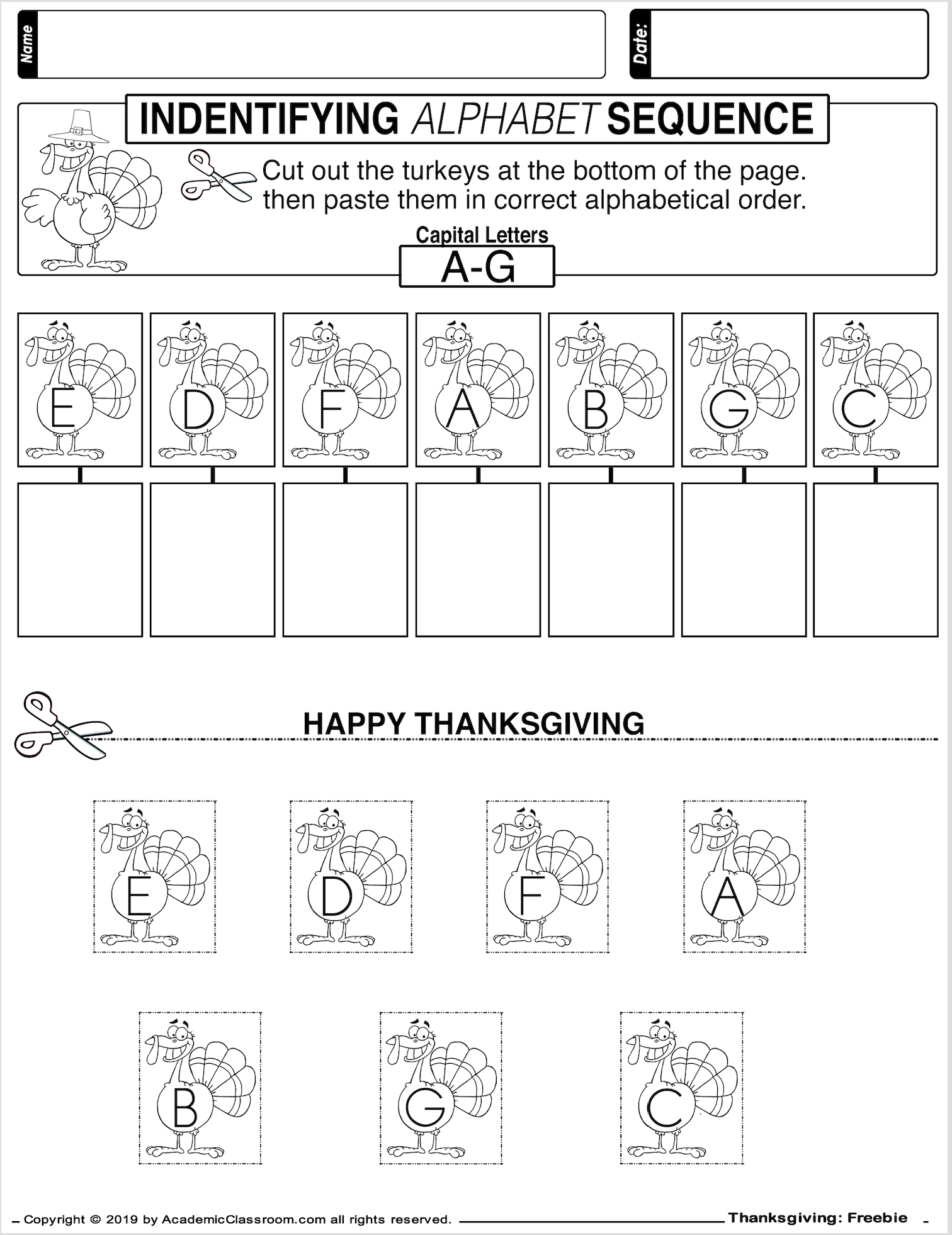 Free November No Prep Math And Literacy Packet