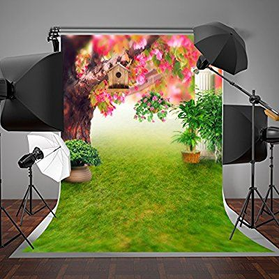 HD Natural Scenery Green Backdrop Flowers Photography Background Themed Party Photo Booth Facebook YouTube Backdrop 7x5ft NANMT1146
