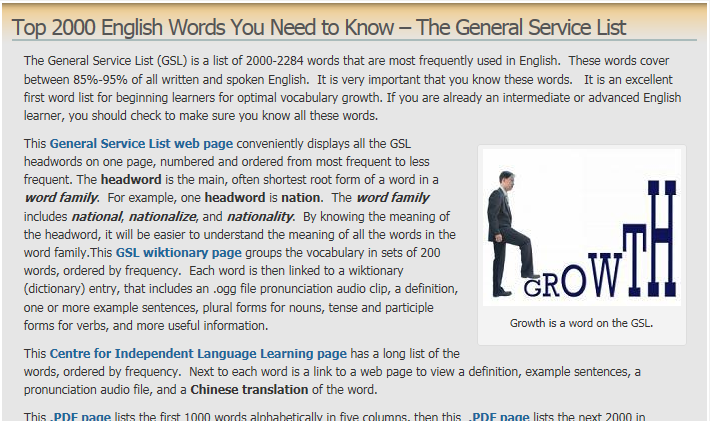 Top 2000 English Words You Need to Know – The General