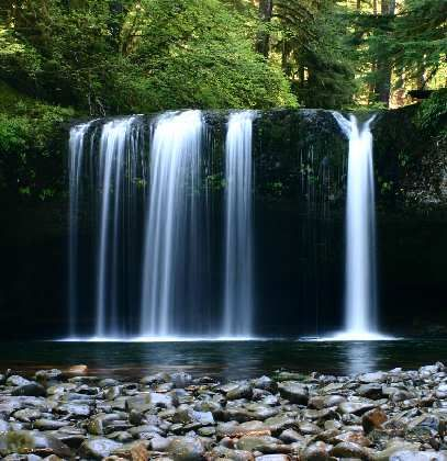 Upper-Lower Butte Creek Falls, Salem, Oregon, you can even swim under the waterfall..