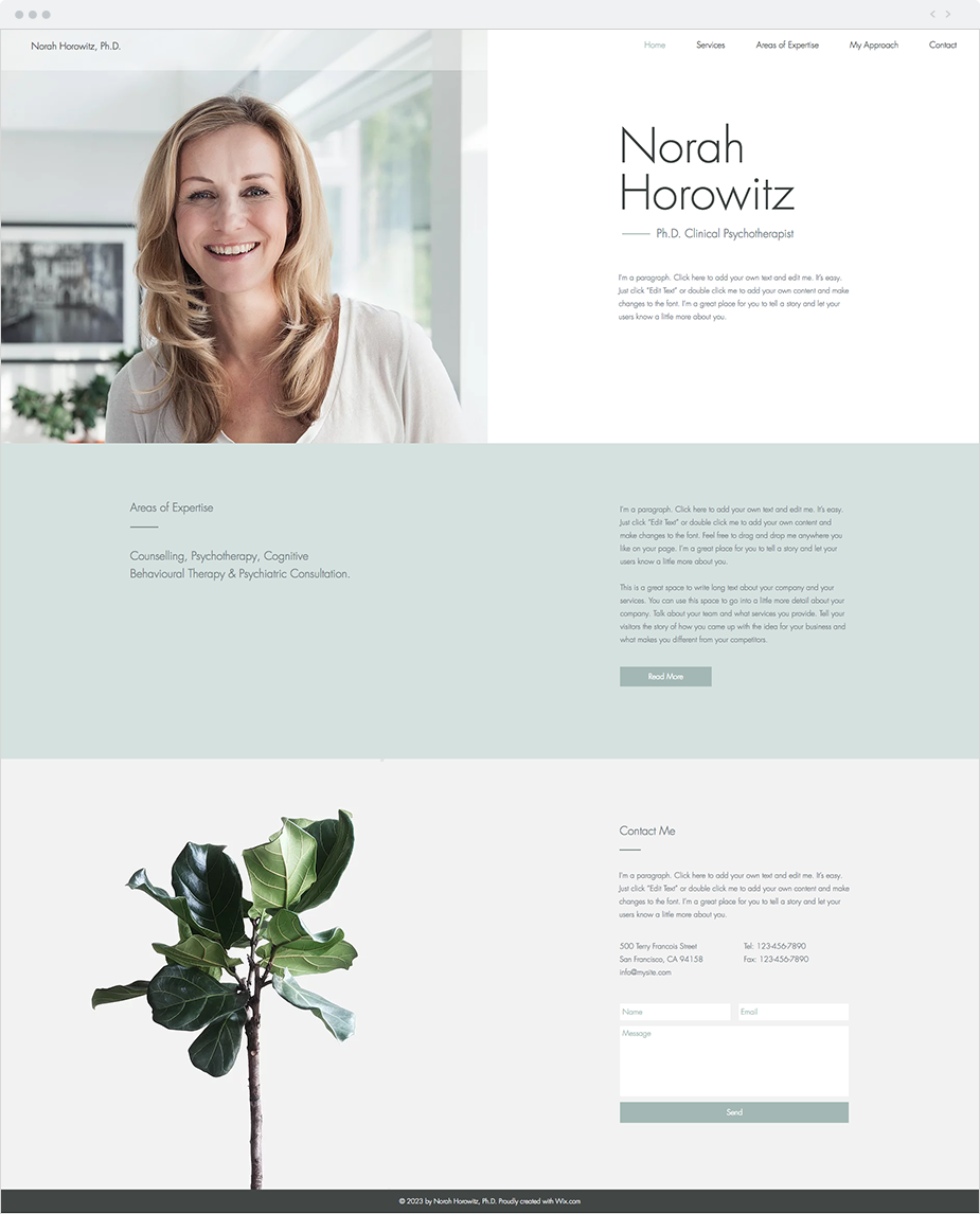 Clinical Psychotherapist Website Template   Wix Website Templates by ...