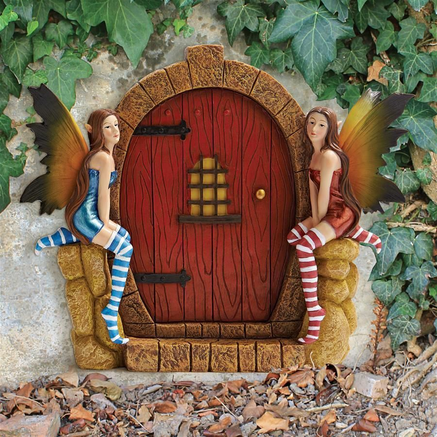 the Enchanted Portal Fairy Garden Decor Door Wall Plaque Decor ...