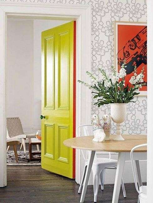 Porte colorate per interni | porte | Pittura porte interne ...