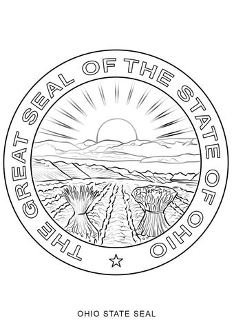 Ohio State Seal Coloring Page Free Printable Coloring Pages