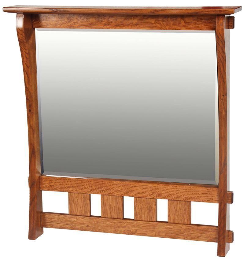 "Amish Hardwood Aspen Medium Mirror $228 MASTER BATH 2 mirrors 28.75"" x 4.25"" x 30"" avail in White Oak 10-12 wks lead time"