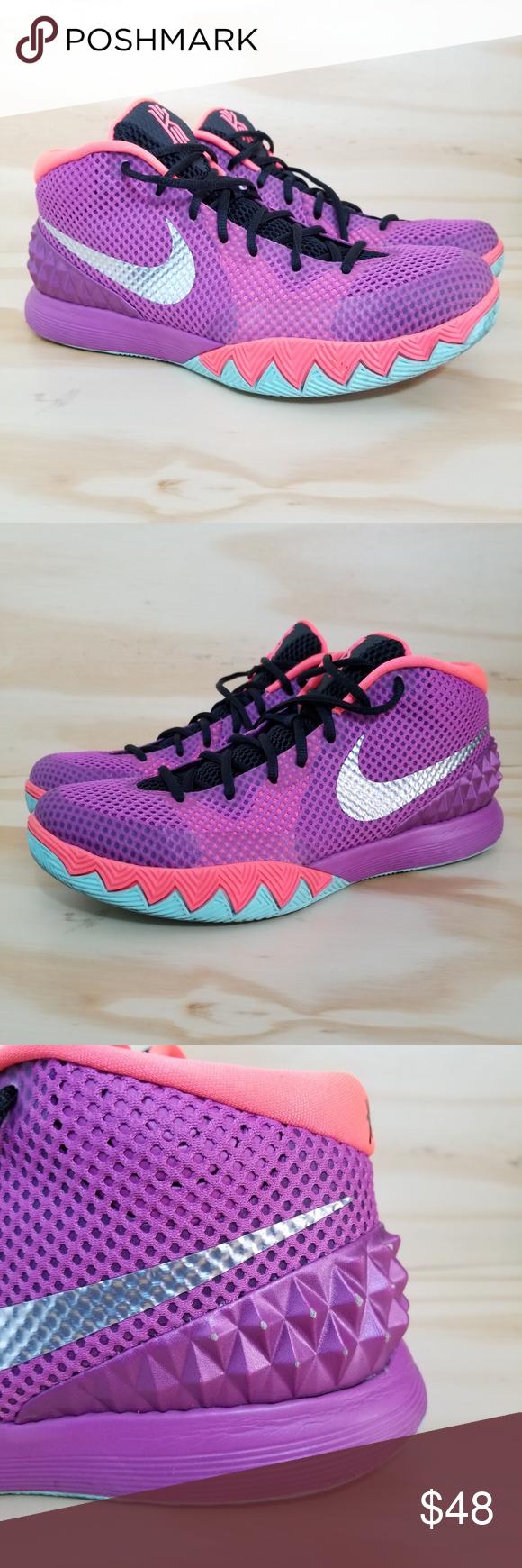 898986be6aae Nike Kirie 1 Sneakers sz 11 Men s Nike Kyrie 1 Easter Medium Berry Silver- Hot