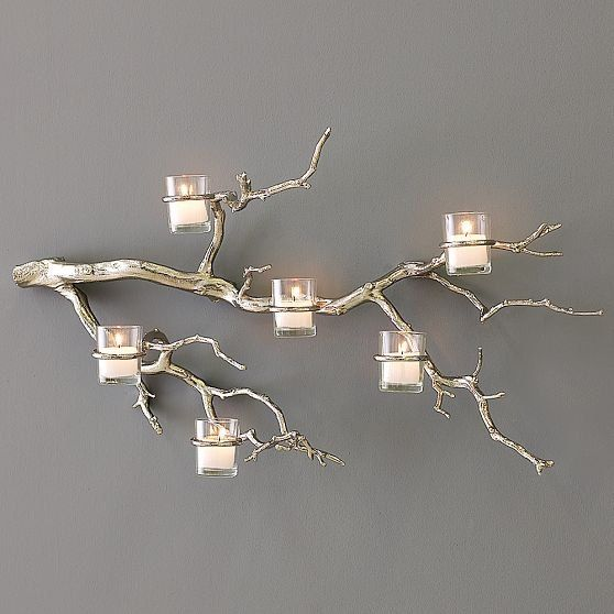 Tree Branch Wall Decor tree branch wall candle holder twig candle holder tree branch wall