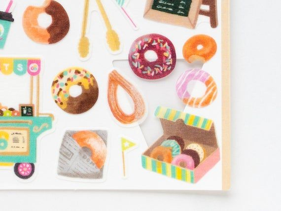 "Photo of MIDORI Sticker Marche ""Donuts Shop"", Japanese Masking Sticker by DESIGNPHIL"
