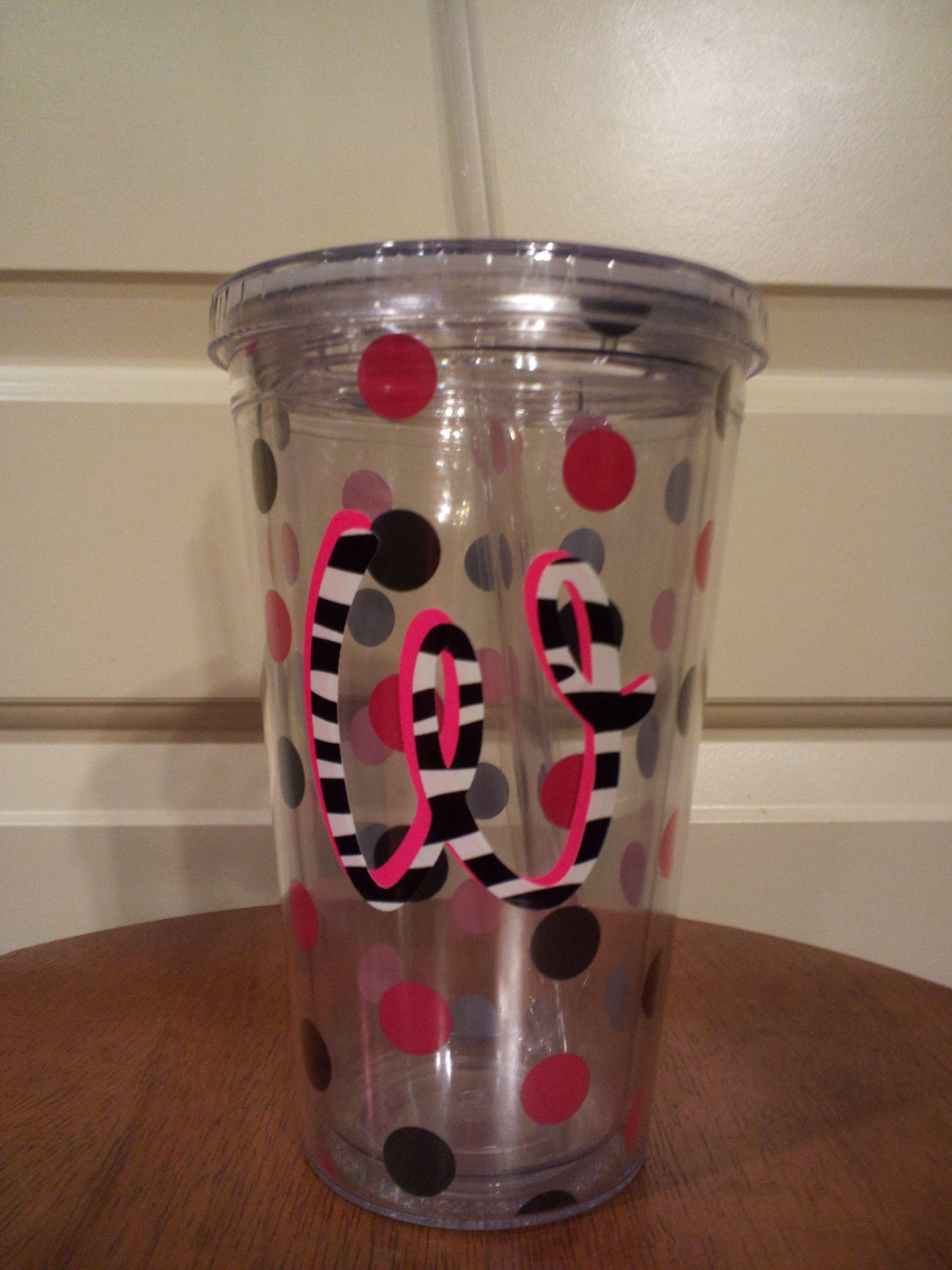 Personalized Cups Need Cricut Waterproof Vinyl