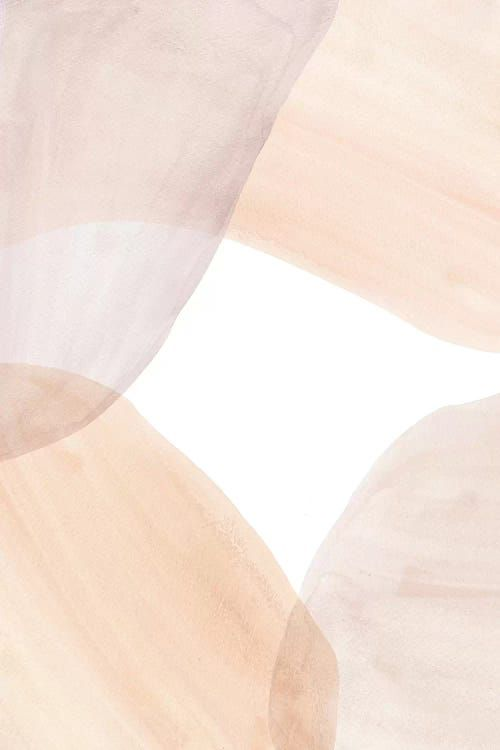 Soft Pastel Tone Abstract Shapes Ii - Canvas Print