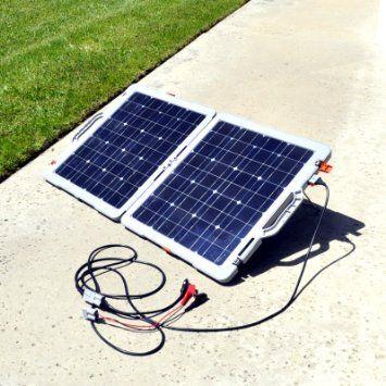 Amazon Com Instapark Powerbox Mars100 Fold N Go Portable 100 Watt Solar Powered 12v Battery Charg Solar Panel Battery Solar Power Panels Portable Solar Panels