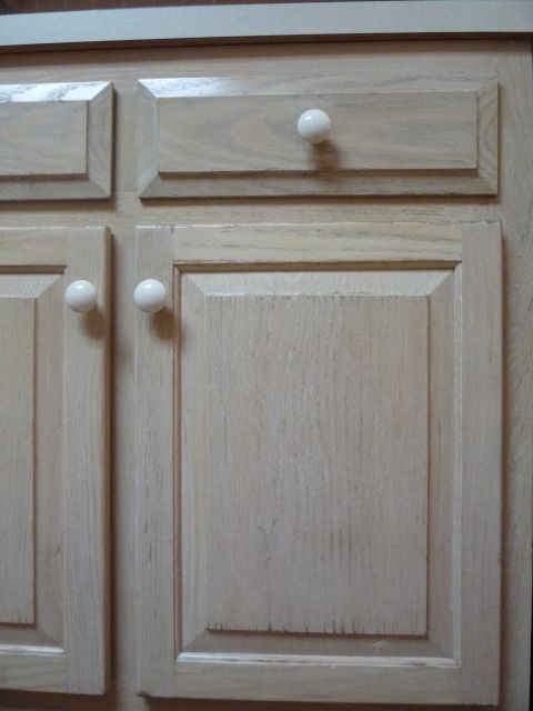 Good I Decided To Buy Unfinished Oak Cupboards And Do Them In A White Pickled  Finish