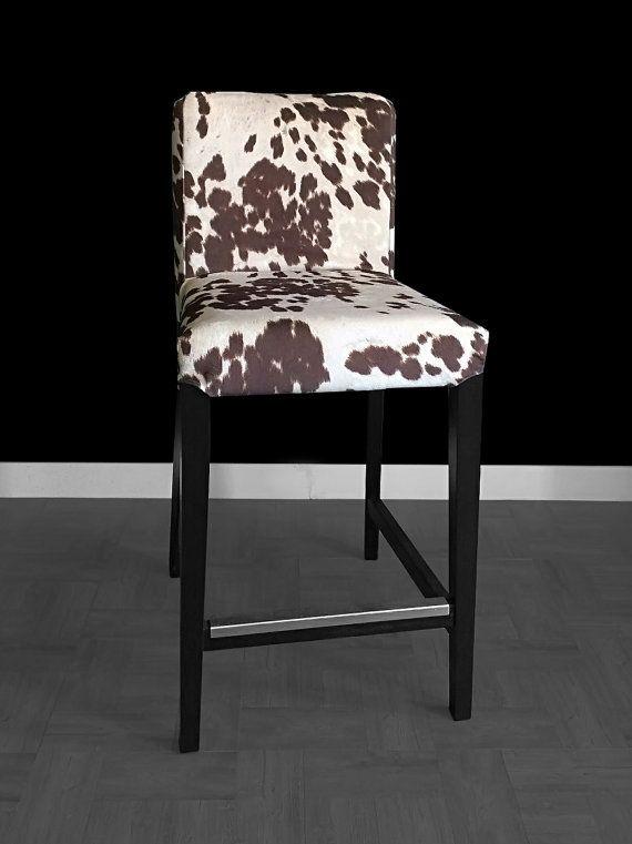 IKEA HENRIKSDAL Bar Stool Chair Cover Cow Print Ikea Slip