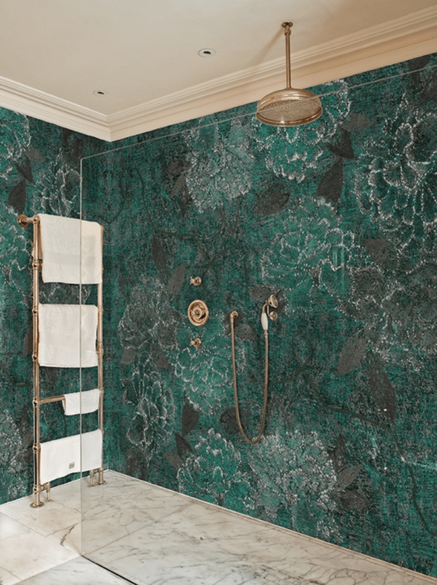 Alternatives To Tiling Your Bathrooms Waterproof Wallcoverings The Interior Editor Bathroom Wall Tile Bathroom Inspiration Wall Deco