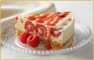 Recette de Cheesecake - Cheesecake meringué à la framboise