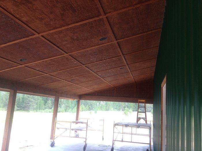 Stained Plywood Ceiling Rough Sawn Porch Ceiling Scott Herndon