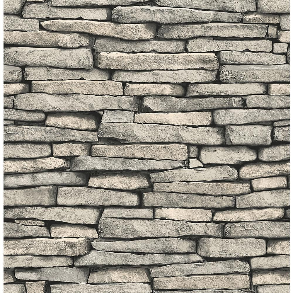 Brewster Ledge Grey Slate Wall Paper Strippable Wallpaper Covers 56 4 Sq Ft Fd23275 The Home Depot Slate Effect Wallpaper Slate Wallpaper Stone Wallpaper