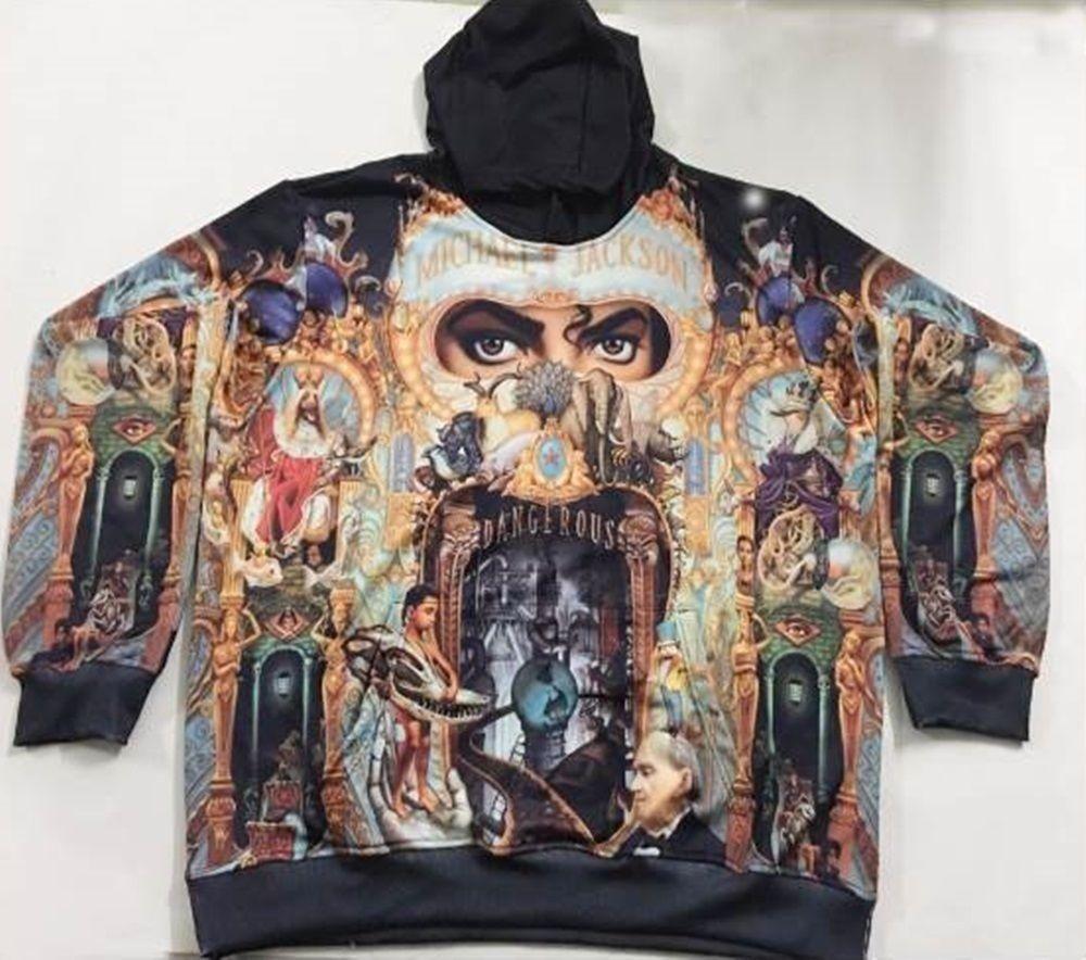 19ac5c260e1a7 Hoodie Michael Jackson Dangerous 3D Sublimation USA Size XXS-6XL ...