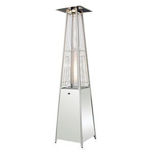 Sunmaster Bonfire Patio Heater - Stainless Steel by Sun-Master. $399.00. Sun-Master. For the best value in heating your outdoor room look to Sunmaster.Sunmaster patio heaters have been designed with innovative features to enhance your patio heating experience. For example, every Sumaster patio heater includes an Easy-Lite Push Button Start system to ignite your patio heater quickly and safely. From the ease of accessing the propane fuel tank to the ease of moving the patio heate...