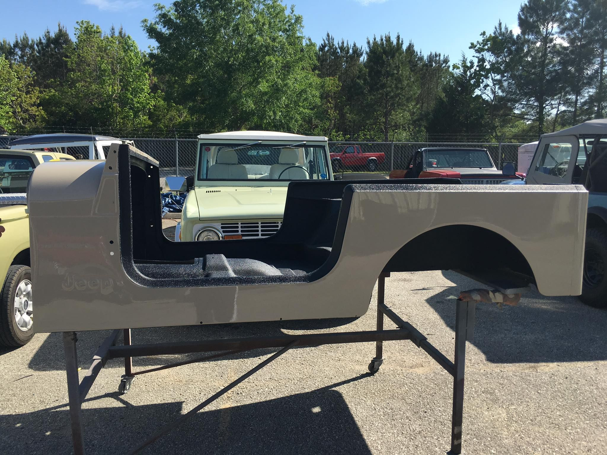hight resolution of body painted and bed liner for the interior jeep cj7 for sale rock sliders