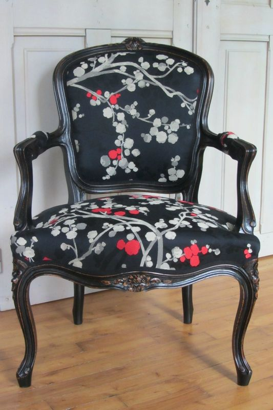 Louis xv se japonise objetos pinterest sill n vintage muebles y sillas - Sillones antiguos restaurados ...