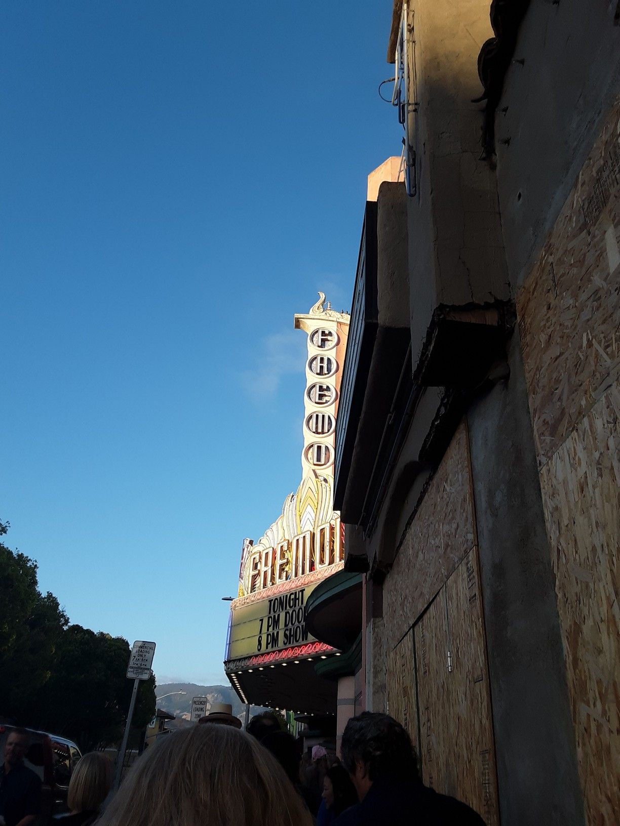 Line outside of fremont theater in downtown san luis