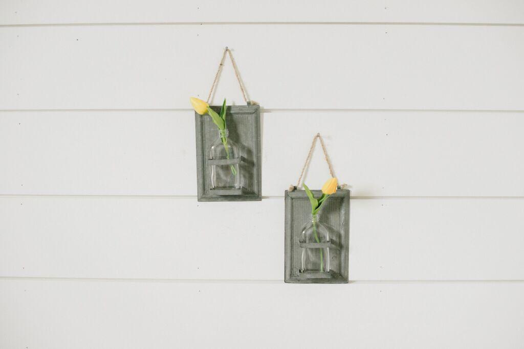 Galvanized Sheet Metal Vase Home Sweet Home Galvanized