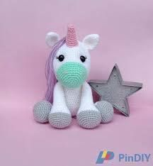 Fluffy Unicorn Amigurumi Pattern - Free - Ami Amour | 234x216