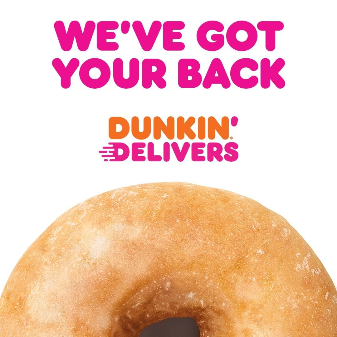 Dunkin On Instagram We Ve Got Your Back With Delivery From Nearly 3 000 Locations On Grubhub Get 5 Off Your Next Order Of 1 In 2020 Grubhub Dunkin You Got This