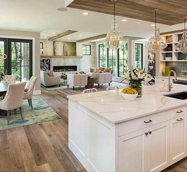 Sala, comedor y cocina, juntos. | casas y planos | Pinterest | Sala ...