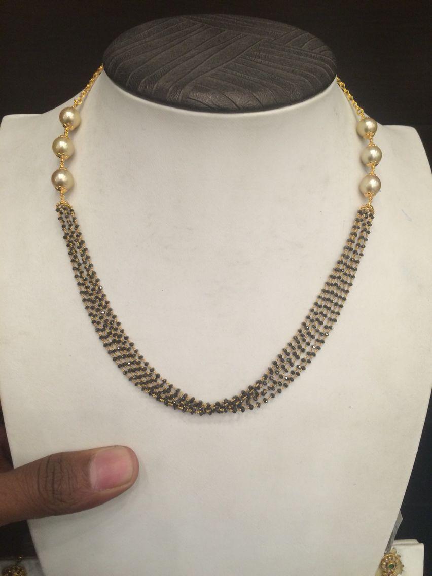 Black Diamond Black Beaded Jewelry Black Diamond Necklace Black Diamond Chain