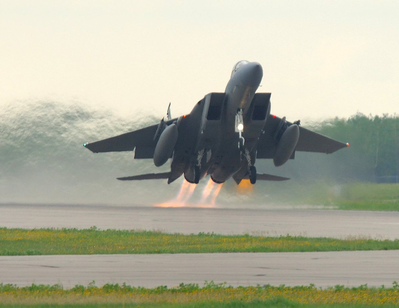 USAF Photo of the Weekend B Spirit and FE Strike Eagles over