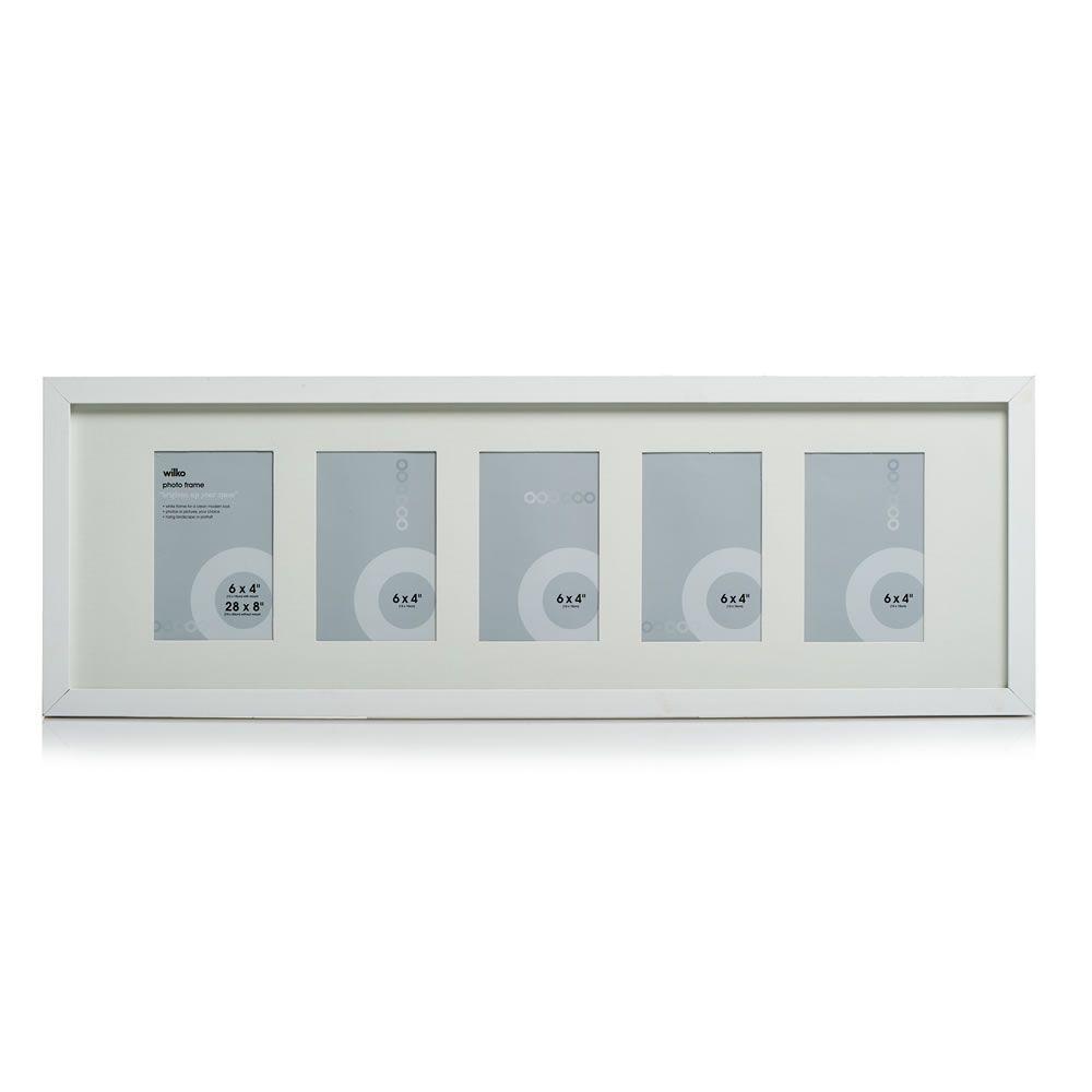 White Multi Aperture Photo Frame 5 x 6 x4in