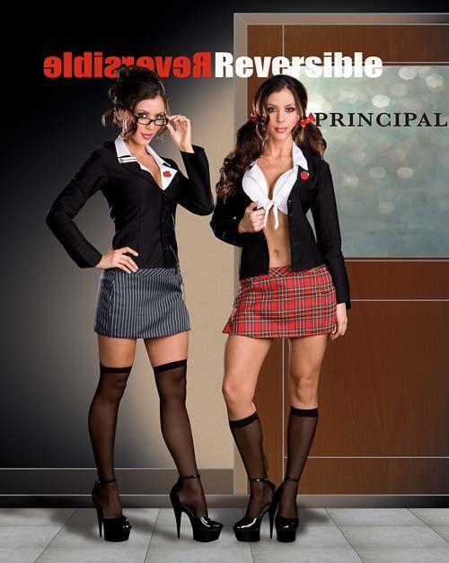 Sexy School Girl Costume Is So Versatile Reversible Skirt Blazer And Crop Top