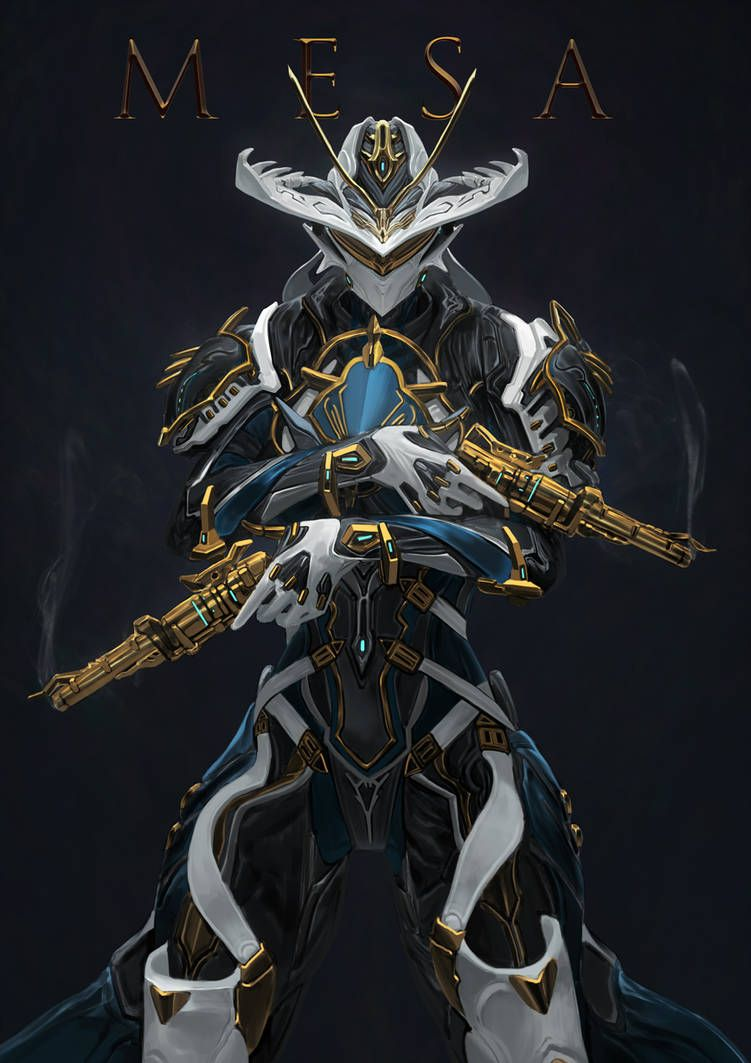 Mesa Prime Commission By Kevin Glint Warframe Art Concept Art Characters Robot Concept Art