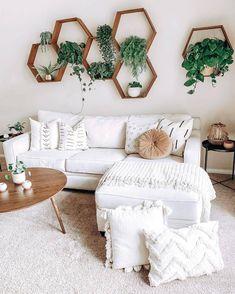 Bohemian Home decor Design | White room decor, Home living room, Room decor