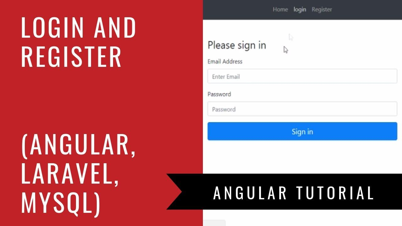 Angular 6 Laravel Mysql Build A Login And Registration Web
