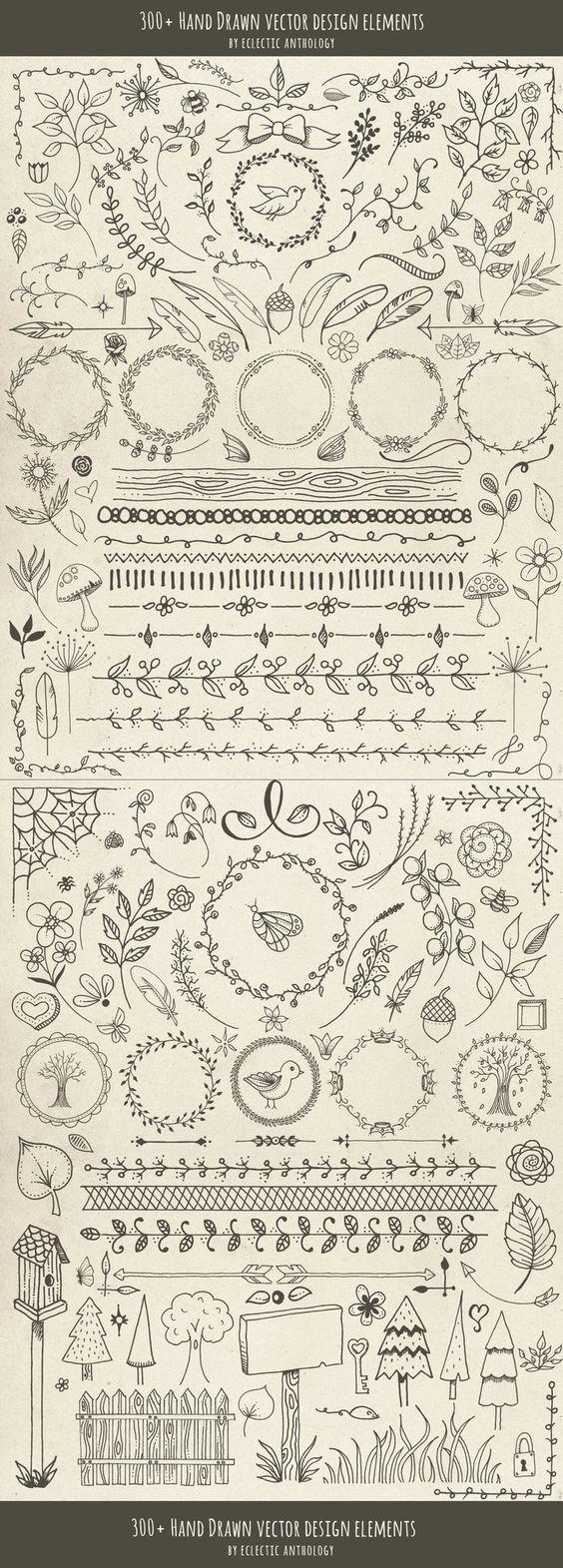 Hand gezeichnete Vektor-Design-Elemente