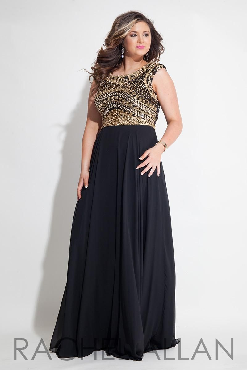 Prom Dresses Evening Plus Size Black Gowns Gold Beaded Sequins ...