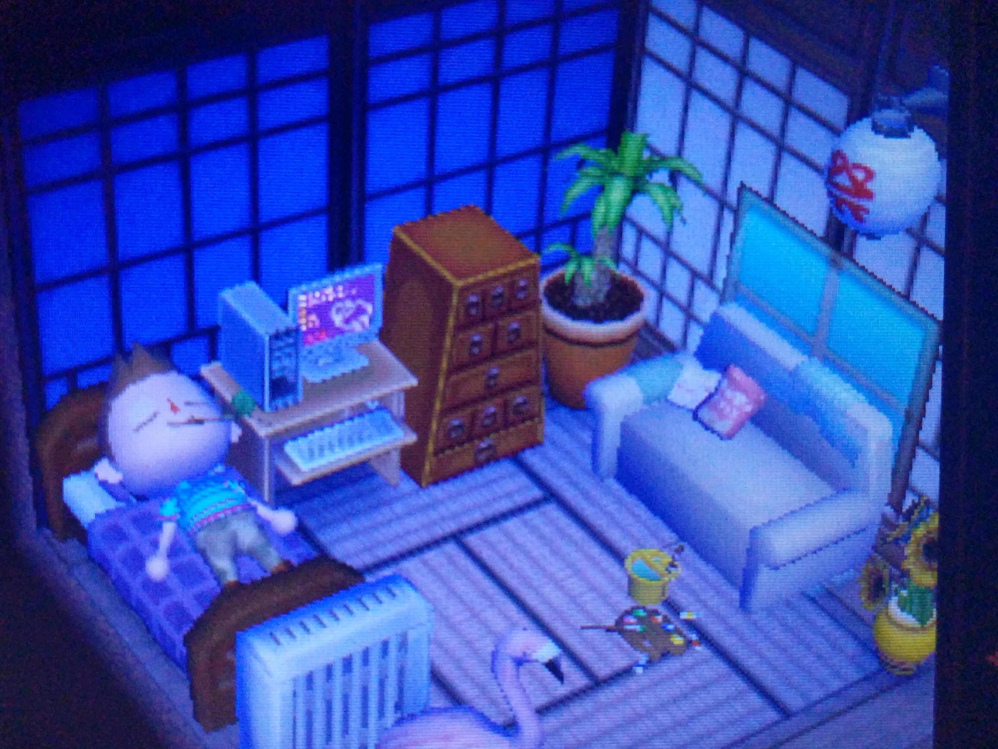 I Made A Vaporwave Room In Animal Crossing With Images Animal