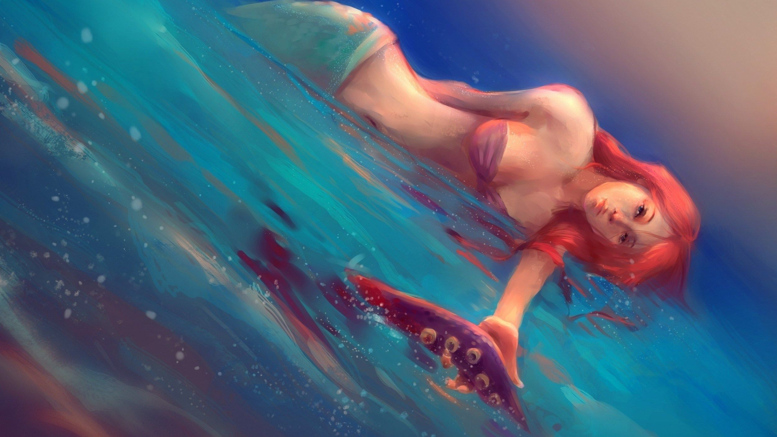 2500x1406 widescreen wallpaper mermaid Mermaid