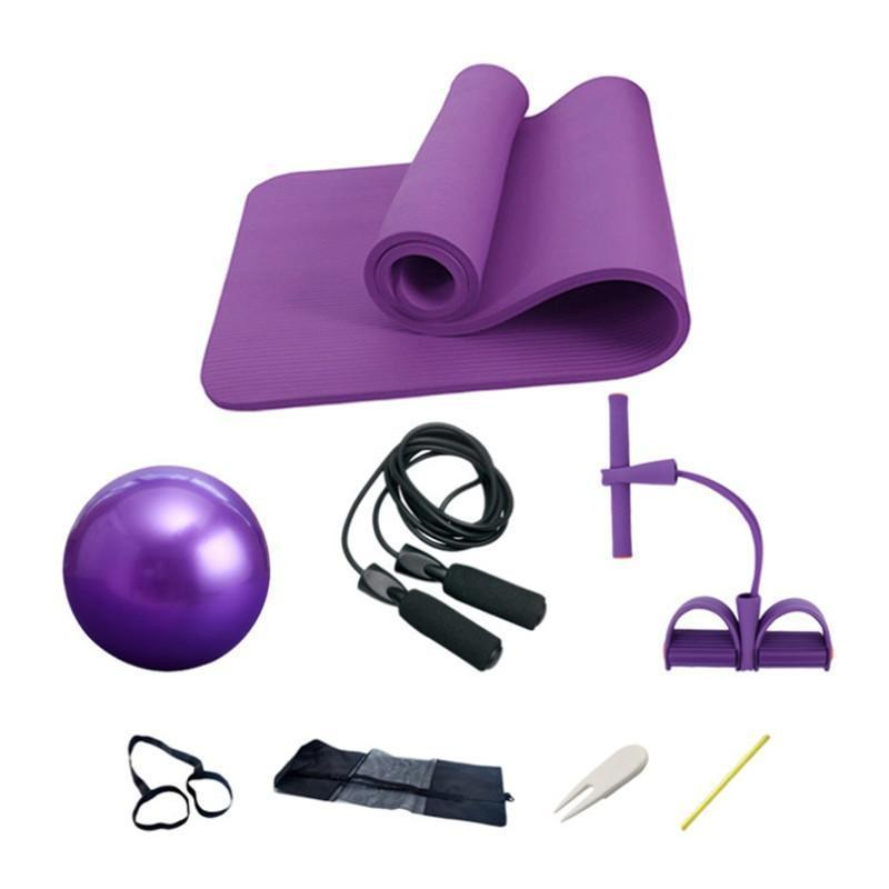 Features Kit 1 Yoga Mat Size 183cm 61cm 1 0cm Pvc Yoga Ball Diameter 25cm Resistance Band Size 27 26 60cm Rop Yoga Ball Ball Exercises Yoga Kit