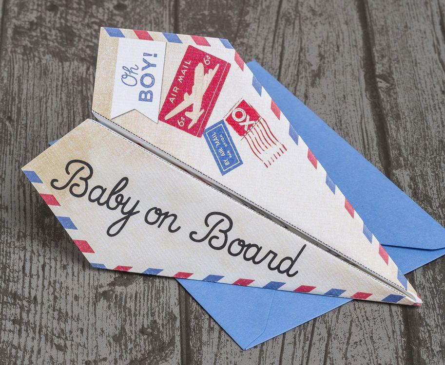 Paper Airplane Baby Shower Invitation | baby stuff | Pinterest ...