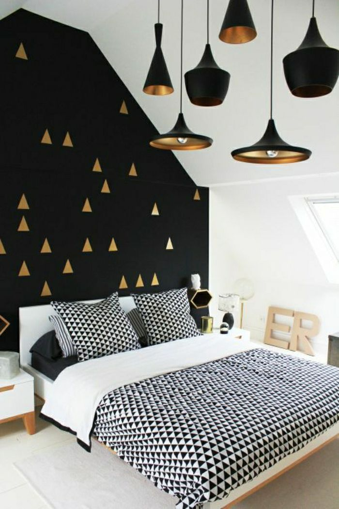 Le Papier Peint Geometrique En 50 Photos Avec Idees Deco Chambre